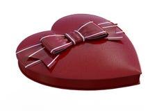 3D rendant Valentine Chocolate Box sur le blanc Photo libre de droits