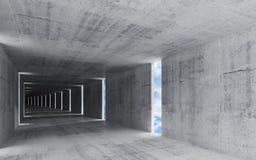 3d rendem, abstraem o fundo interior concreto sujo Ilustração Royalty Free