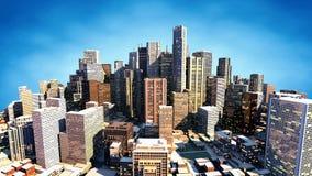 3D rendem da cidade ilustração stock
