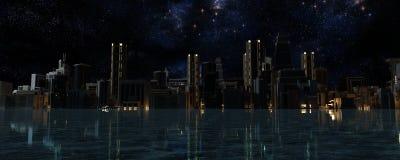 3D rendem da cidade Fotos de Stock