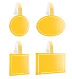 3d rendem do wobbler amarelo para promovem vários produtos Foto de Stock Royalty Free