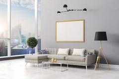 3d rendem da instalação interior bonita da sala Foto de Stock Royalty Free
