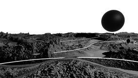 3d rendem da paisagem cósmica como o fundo ou o ambiente O planeta da opinião do espaço da nave espacial detalhou muito video estoque