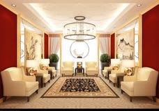 3d rendem da sala de estar ilustração royalty free
