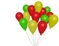 3d rendem de balões do partido Imagem de Stock Royalty Free