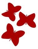 3d rendem de borboletas de papel abstratas Imagem de Stock