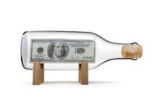 Cem garrafas do dólar Imagem de Stock