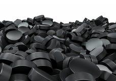 Pilha dos discos de hóquei Imagens de Stock