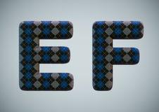 3D rendem de n?meros e de letras do alfabeto da pe?ga imagens de stock royalty free