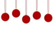 3d rendem de pendurar ornamento vermelhos Imagem de Stock Royalty Free