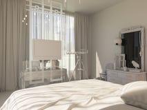 3d rendem de um design de interiores de um quarto Fotos de Stock