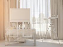 3d rendem de um design de interiores de um quarto Foto de Stock Royalty Free