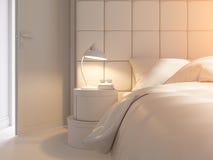 3d rendem de um design de interiores de um quarto Imagens de Stock Royalty Free