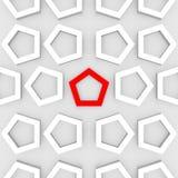 3d rendem de um fundo pentagonal abstrato Imagens de Stock Royalty Free
