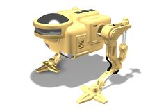 3D rendem de um robô dois-equipado com pernas fotografia de stock