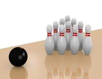 3d rendem de uma pista do bowling Imagens de Stock Royalty Free
