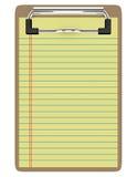 3d rendem de uma prancheta com papel Imagem de Stock