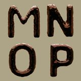 3D rendem do alfabeto do chocolate fotografia de stock royalty free