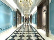 3d rendem do assoalho do hotel de luxo ilustração do vetor