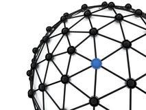 3d rendem do conceito das conexões de negócio Imagem de Stock