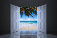 3D rendem do conceito tropical abstrato Fotografia de Stock