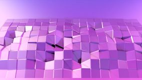 3d rendem do fundo geométrico abstrato com cores modernas do inclinação no baixo estilo poli superfície 3d com inclinação agradáv ilustração royalty free
