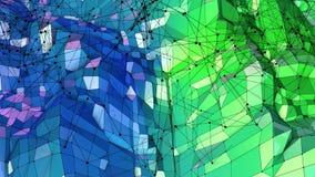 3d rendem do fundo geométrico abstrato com cores modernas do inclinação no baixo estilo poli superfície 3d com azul agradável ilustração do vetor