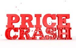 3d rendem do impacto do preço da palavra para vendas Foto de Stock