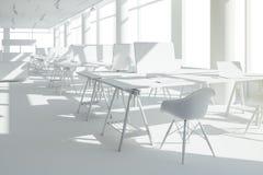3d rendem do interior moderno bonito do escritório Foto de Stock