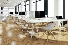3d rendem do interior moderno bonito do escritório Imagem de Stock