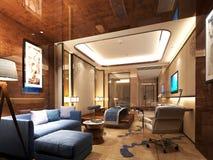 3D rendem do quarto de hotel ilustração royalty free