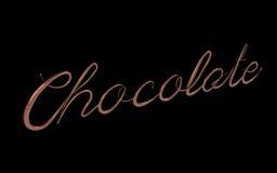 3d rendem do texto do chocolate Imagens de Stock