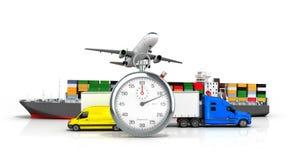 3d rendem do transporte diferente Imagem de Stock