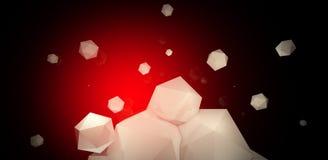 3d rendem Fundo abstrato com um polígono, luz de néon ilustração do vetor