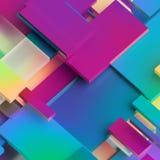 3d rendem, fundo geométrico abstrato, blocos da separação, listras diagonais, linhas dinâmicas, painéis multicoloridos, fragmento ilustração do vetor