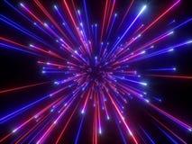 3d rendem, golpe grande, galáxia, fundo cósmico abstrato, celestial, beleza do universo, velocidade da luz, fogos de artifício, f ilustração royalty free