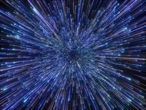 3d rendem, golpe grande, galáxia, fundo cósmico abstrato, fogos de artifício, celestiais, universo, velocidade da luz, estrelas d ilustração royalty free