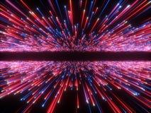 3d rendem, golpe grande, horizonte da galáxia, fundo cósmico abstrato, celestial, beleza do universo, luz de néon, fogos de artif ilustração do vetor