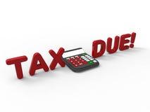 3D rendem a ilustração do conceito de calcular seus impostos ilustração royalty free