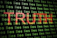 Verdade atrás das mentiras Fotografia de Stock Royalty Free