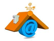 3D rendem a ilustração home do email, foto conservada em estoque ilustração do vetor