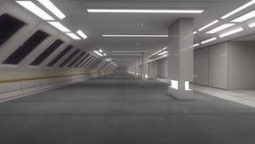 3d rendem Interior futurista da nave espacial ilustração royalty free