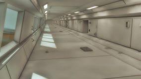 3d rendem Interior futurista da nave espacial Imagens de Stock Royalty Free