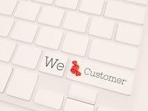 3d rendem o conceito, o cuidado do cliente e o serviço Fotografia de Stock Royalty Free