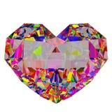 3d rendem o coração colorido Fotografia de Stock