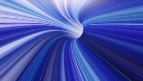 3d rendem o fundo do túnel de Vortexx do tempo do Wormhole de VJ ilustração stock