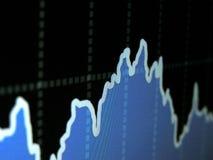 3d rendem o gráfico do mercado de valores de ação Imagem de Stock