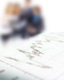 3d rendem o gráfico do mercado de valores de ação Foto de Stock