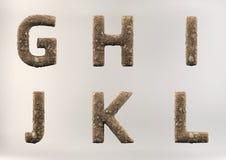 3D rendem o grupo de alfabeto do solo imagem de stock