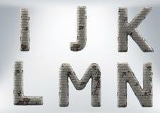 3D rendem o grupo de uma alvenaria, alfabeto do tijolo imagem de stock